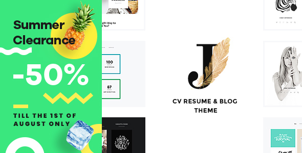 Cindy J   Personal Creative Portfolio, Blog and CV WordPress Theme - Creative WordPress