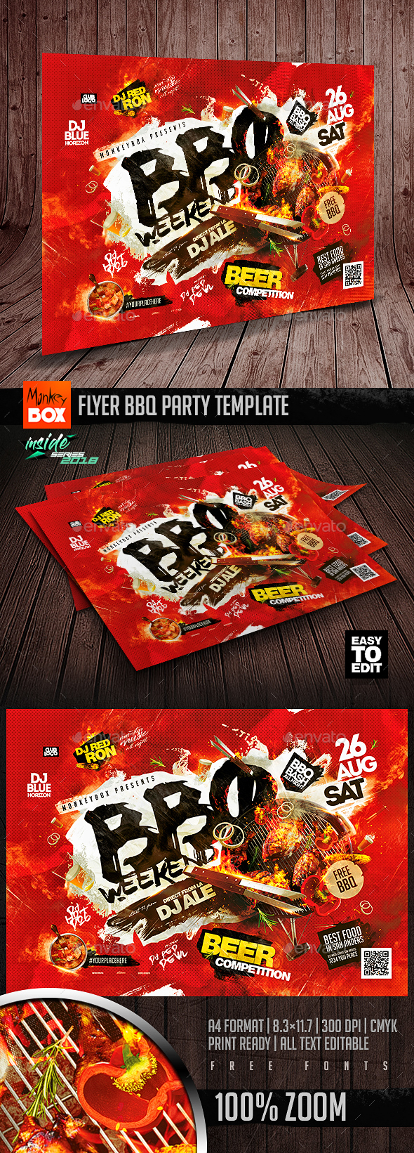 Flyer BBQ Party Template - Events Flyers