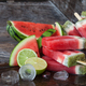 Frozen water melon popsicles - PhotoDune Item for Sale