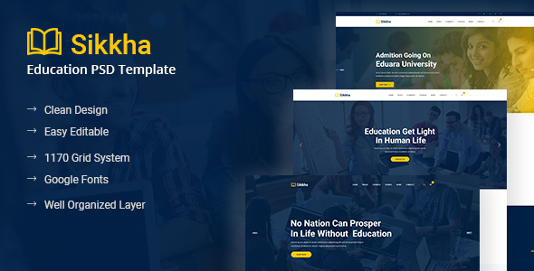Sikkha - Educational PSD Template - Charity Nonprofit