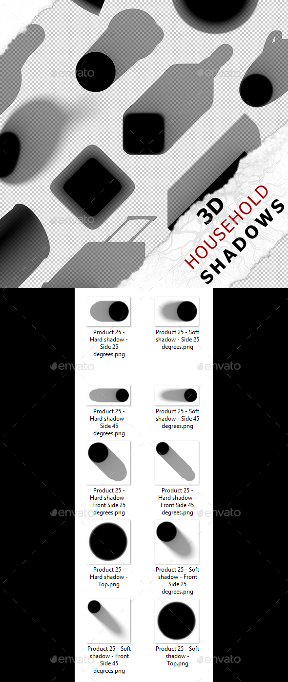 3D Shadow - Product 25 - 3DOcean Item for Sale