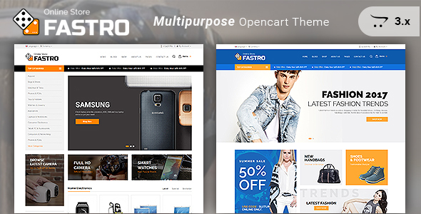 Image of Fastro - Responsive Electronics And Multipurpose Opencart 3.x Theme
