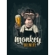 Monkey Dressed in Apron Holding Beer Glass - GraphicRiver Item for Sale