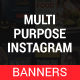 Multipurpose Instagram Templates - GraphicRiver Item for Sale