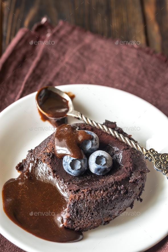Chocolate fondant - Stock Photo - Images