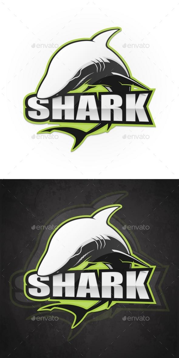 Vector Shark Emblem - Animals Characters