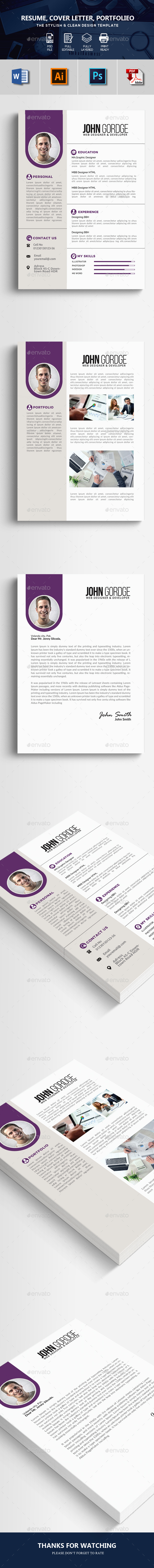 Word Resume CV Template - Resumes Stationery
