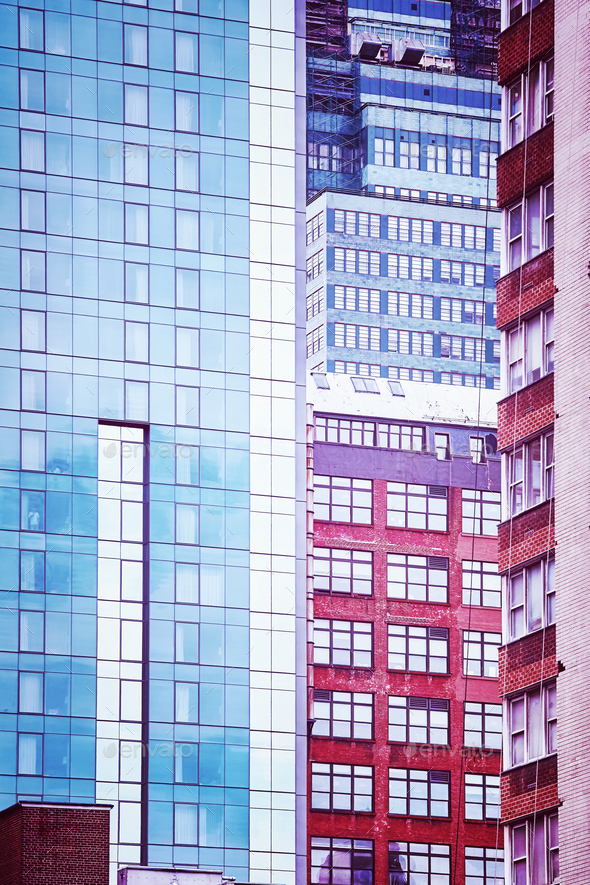 New York City diverse architecture, USA. - Stock Photo - Images