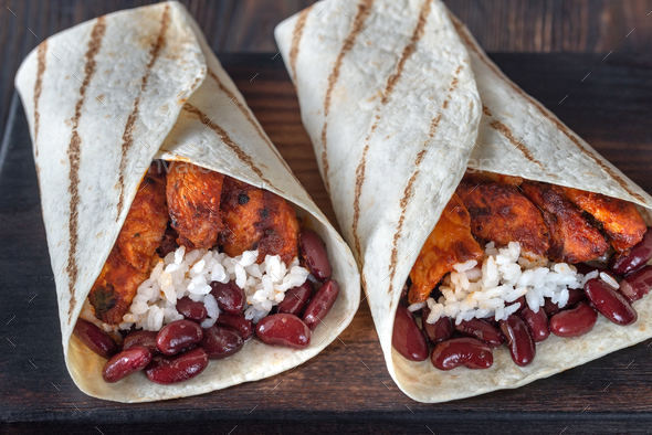 Chicken burritos - Stock Photo - Images