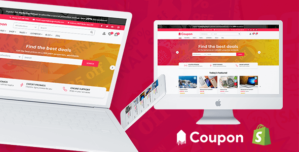 Image of Hotdeal - Coupon & Deals Store Shopify Theme