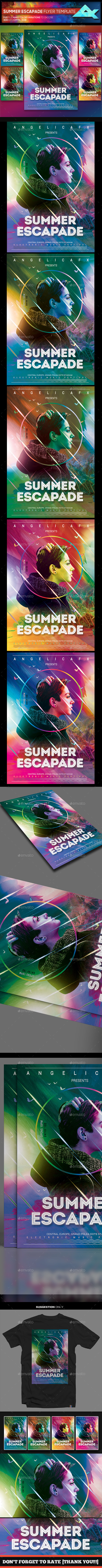 Summer Escapade Flyer Template - Events Flyers