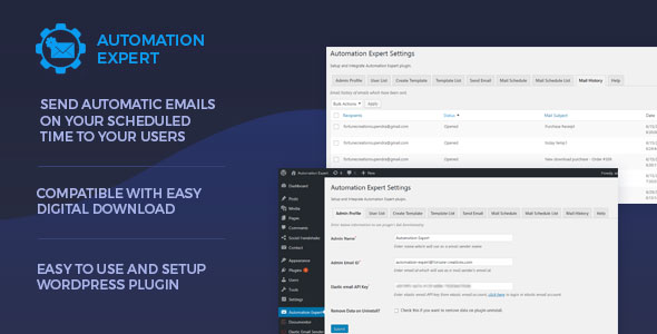 Automation Expert - Send Automatic Emails to Users (WordPress)