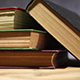 Books on an Old Wooden Table - VideoHive Item for Sale