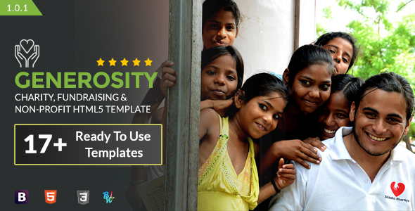 Generosity - Charity, Fundraising & Non-Profit HTML5 Template - Charity Nonprofit