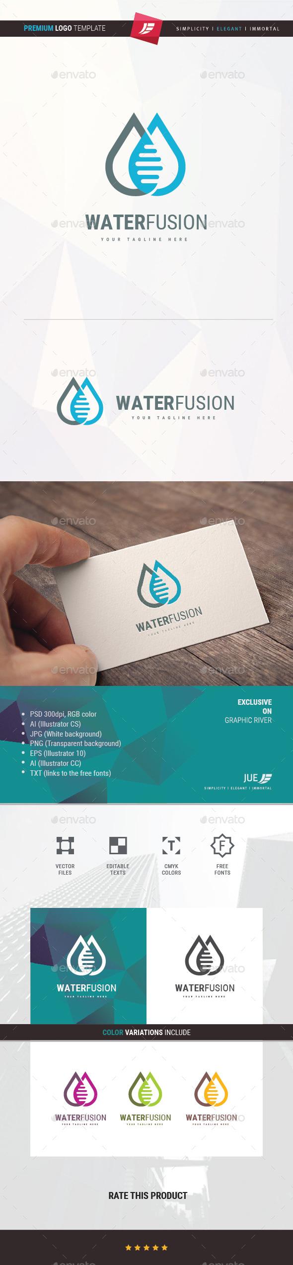 Water Fusion Logo - Symbols Logo Templates