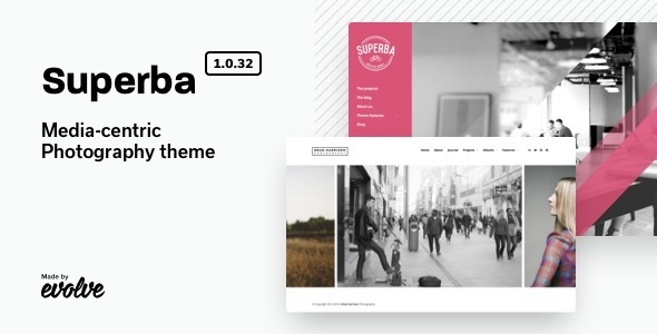 Superba: Media-centric Photography WordPress Theme - Photography Creative