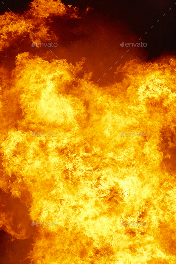Fire flames detail. Fireman emergency. Carbon emission and combustion - Stock Photo - Images