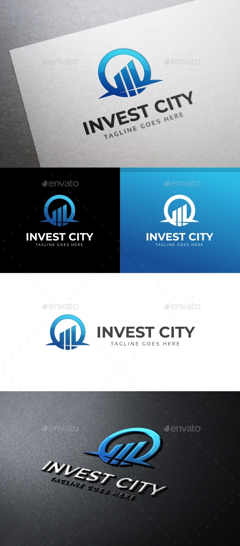 Invest City Logo Template - Symbols Logo Templates