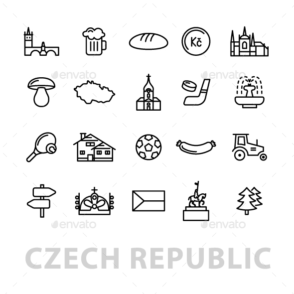 16 Czech Republic Icons - Miscellaneous Icons