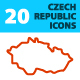20 Czech Republic Icons - GraphicRiver Item for Sale