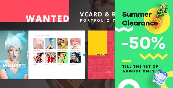 Wanted | Personal Portfolio, Blog and CV WordPress Theme - Portfolio Creative