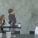 Little Boy Drawing on Flip Chart, Discussing Project with Girl in Office - VideoHive Item for Sale