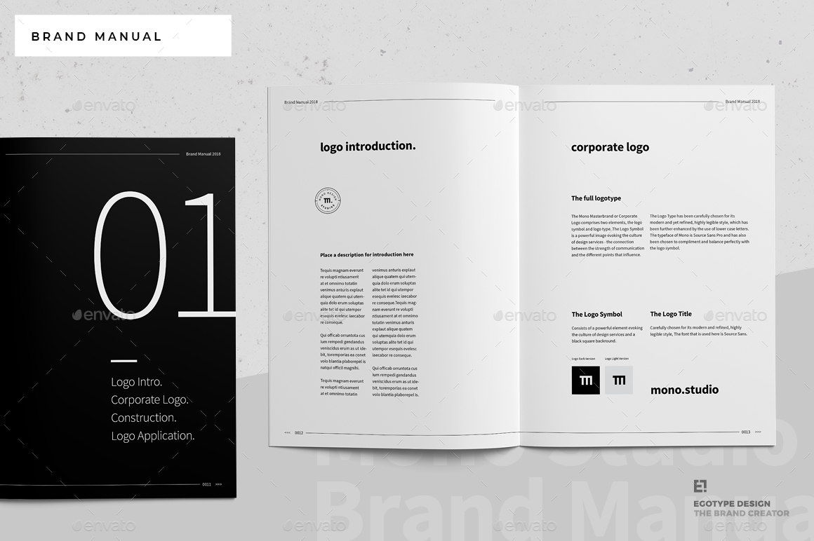 brand manual by egotype graphicriver