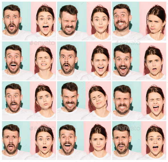 The collage of surprised people Stock Photo by master1305 | PhotoDune