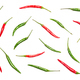 Food flatlay pattern of chili peppers on white background - PhotoDune Item for Sale