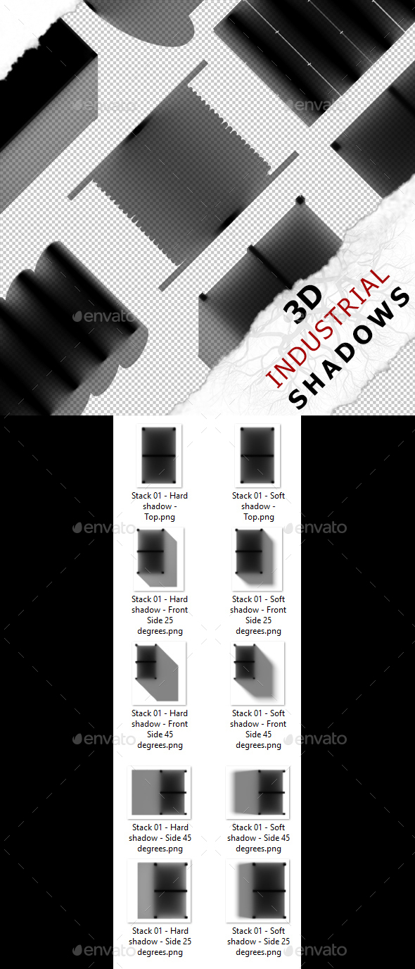 3D Shadow - Stack 01 - 3DOcean Item for Sale