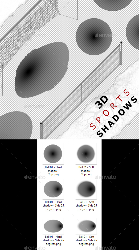 3D Shadow - Ball 01 - 3DOcean Item for Sale