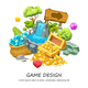 Cartoon Game Design Concept - GraphicRiver Item for Sale