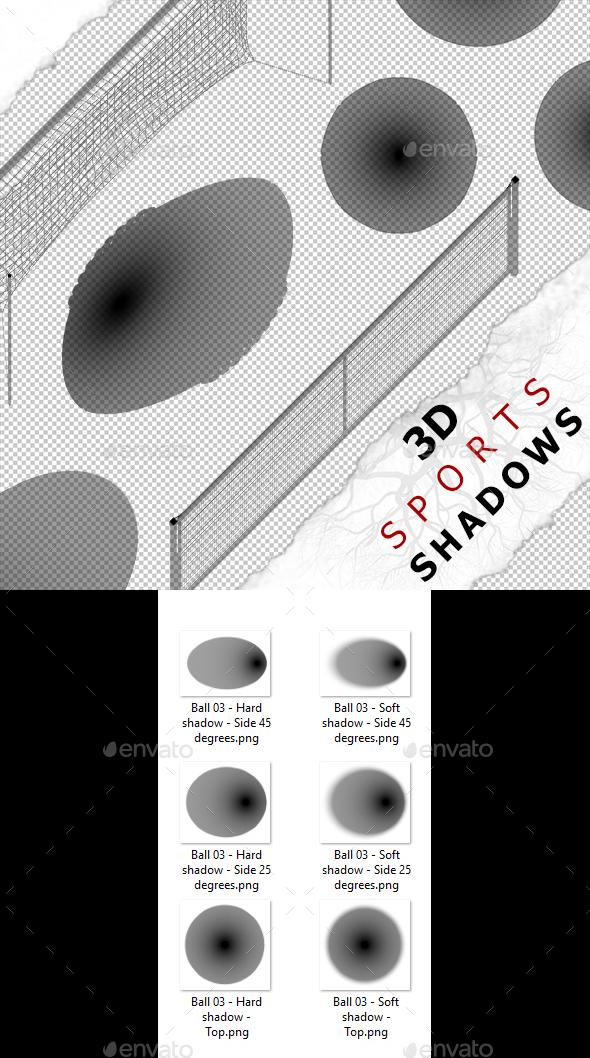 3D Shadow - Ball 03 - 3DOcean Item for Sale