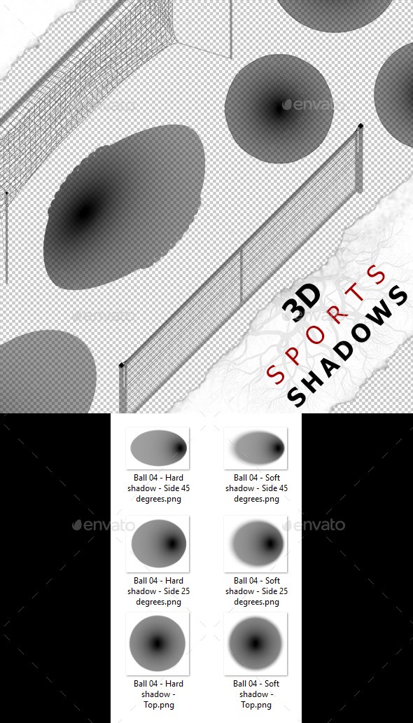 3D Shadow - Ball 04 - 3DOcean Item for Sale