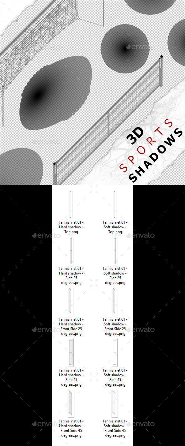 3D Shadow - Tennis Net 01 - 3DOcean Item for Sale