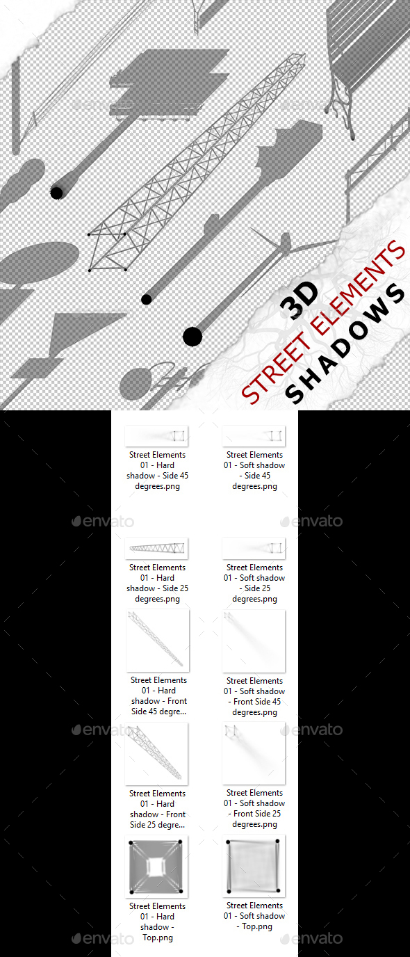 3D Shadow - Street Elements 01 - 3DOcean Item for Sale
