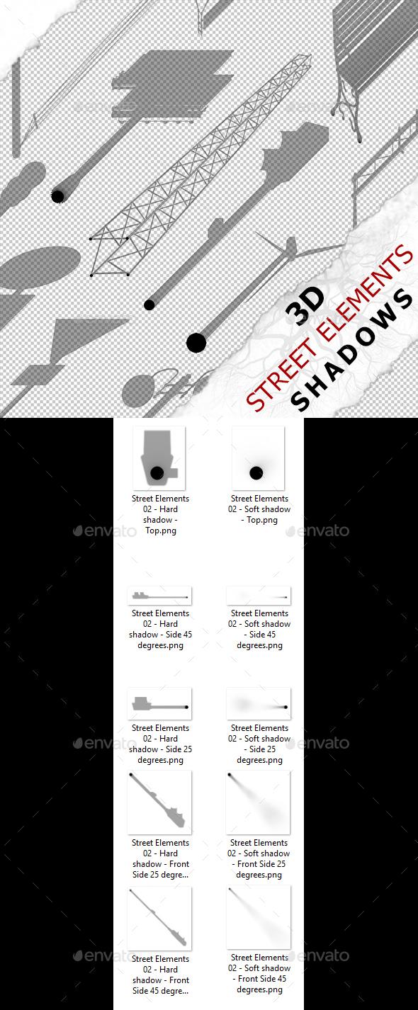 3D Shadow - Street Elements 02 - 3DOcean Item for Sale