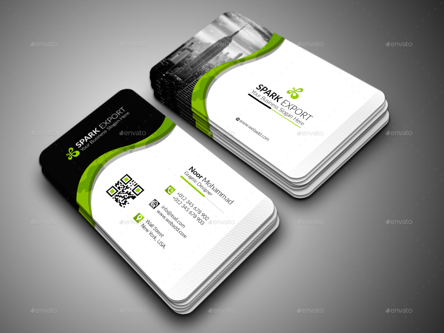 Modern business card by loveallah graphicriver modern business card colourmoves