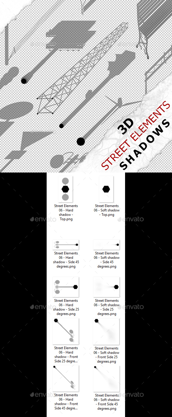 3D Shadow - Street Elements 06 - 3DOcean Item for Sale