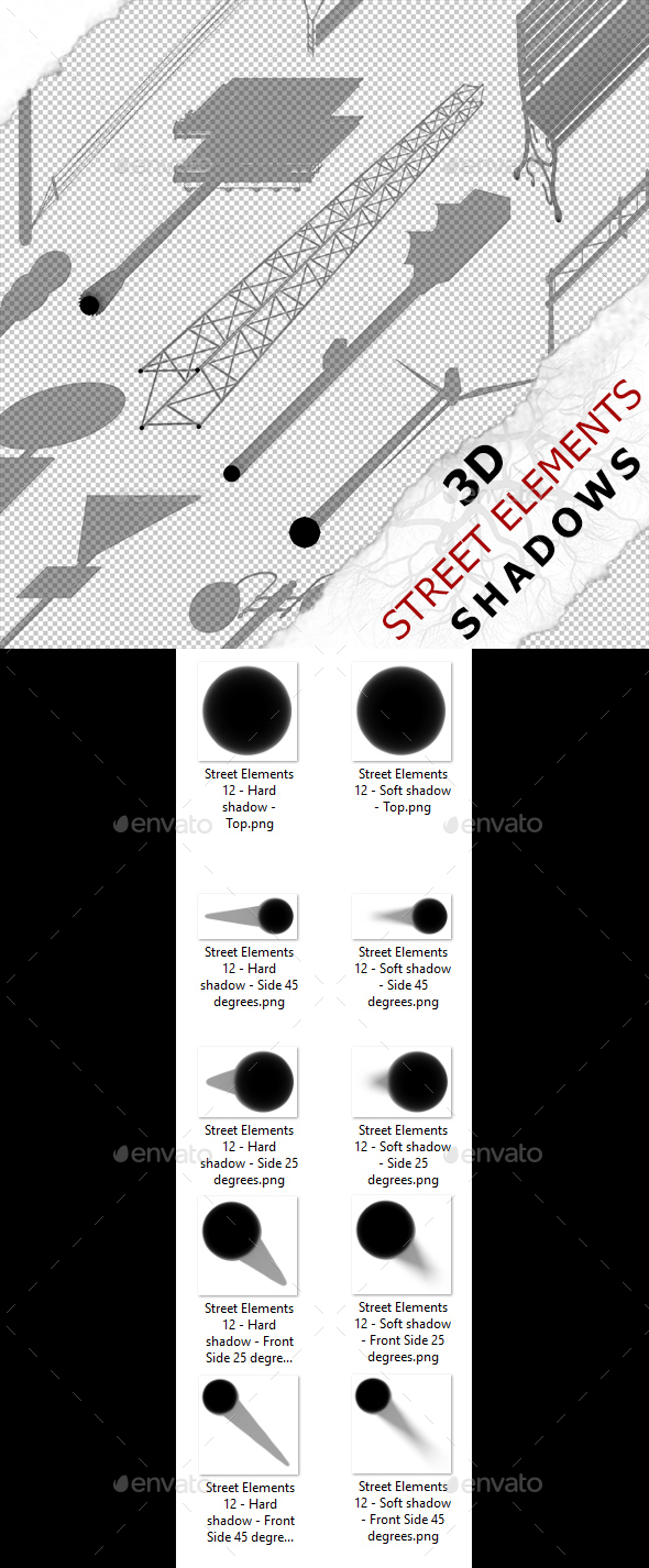 3D Shadow - Street Elements 12 - 3DOcean Item for Sale