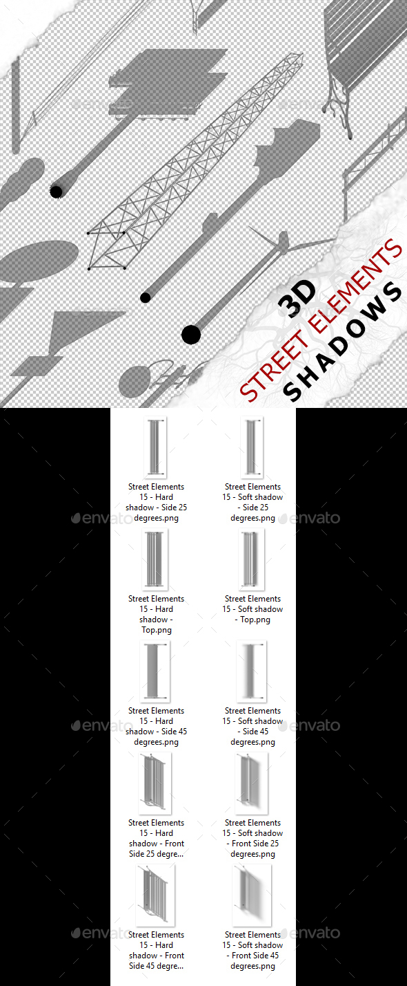 3D Shadow - Street Elements 15