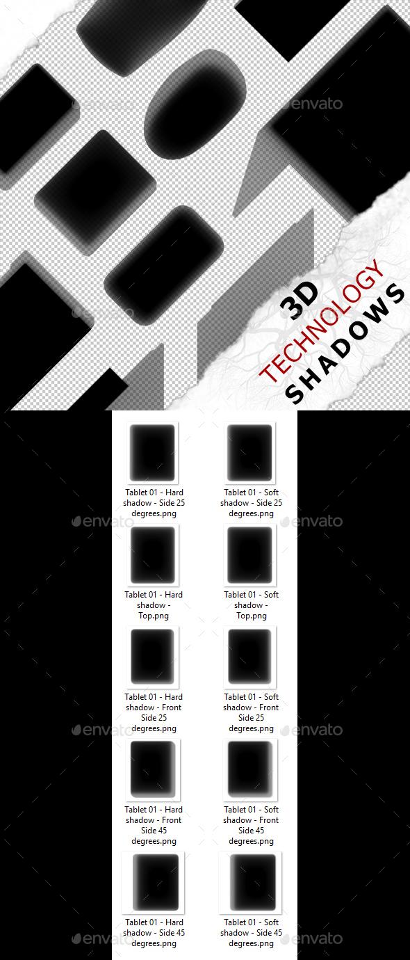 3D Shadow - Tablet 01 - 3DOcean Item for Sale