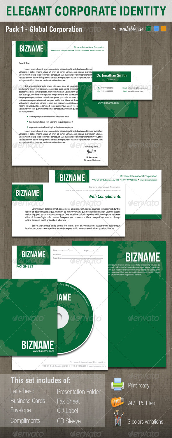 Elegant Corporate Identity System - V1 - Stationery Print Templates