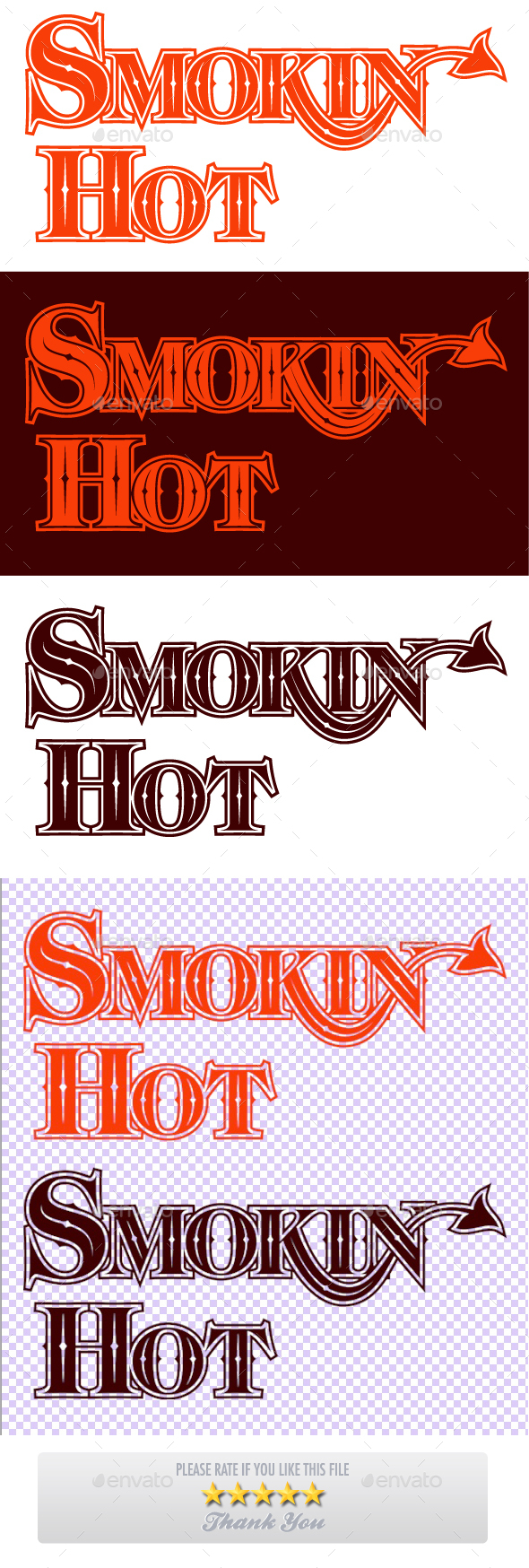 Smokin Hot Hand Drawn Lettering Design - Miscellaneous Vectors
