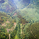 Aerial top view of river in the forest between mountains - PhotoDune Item for Sale