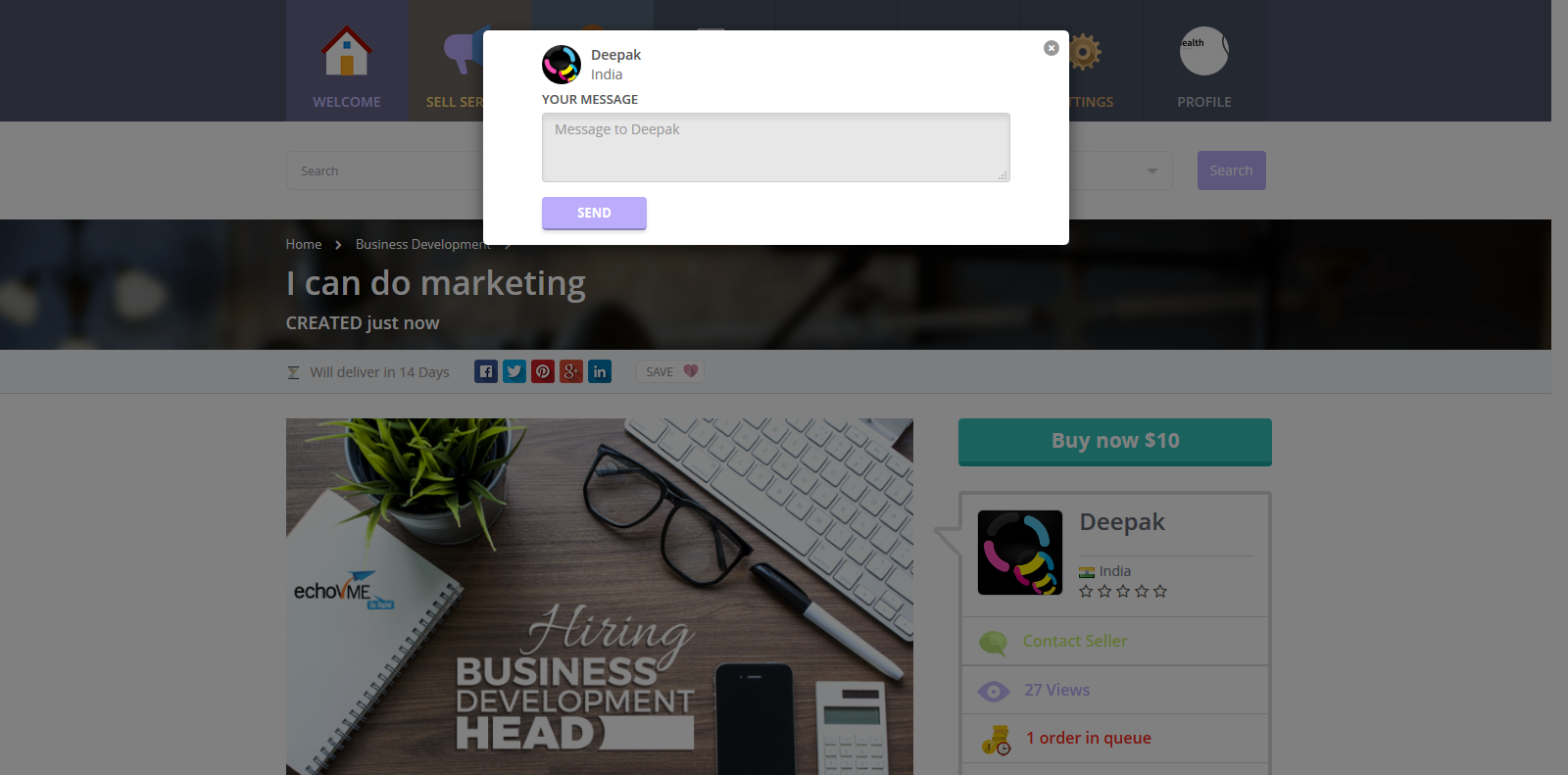 Gigs - Services Marketplace by dreamguys | CodeCanyon
