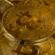 Premium Gold Coins Are the Cryptocurrency Bitcoin Slowly Rotates in a Circle.  Shot of Rotatin - VideoHive Item for Sale