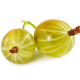 Two ripe gooseberries isolated on white - PhotoDune Item for Sale