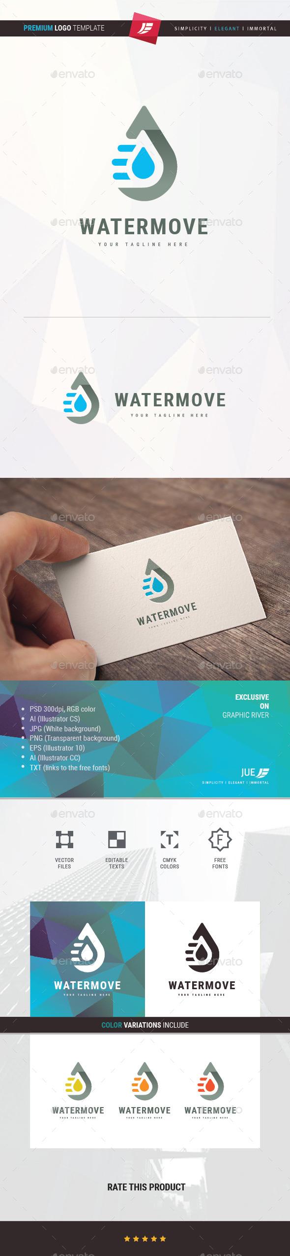 Water Move Logo - Symbols Logo Templates