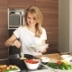 Pleasant Young Woman Preparing Dinner - VideoHive Item for Sale
